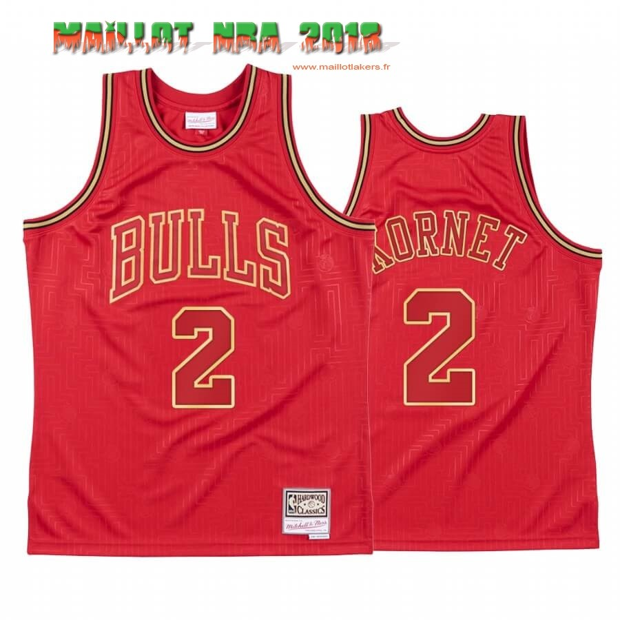 Maillot NBA CNY Throwback Chicago Bulls NO.2 Luke Kornet Rouge 2020