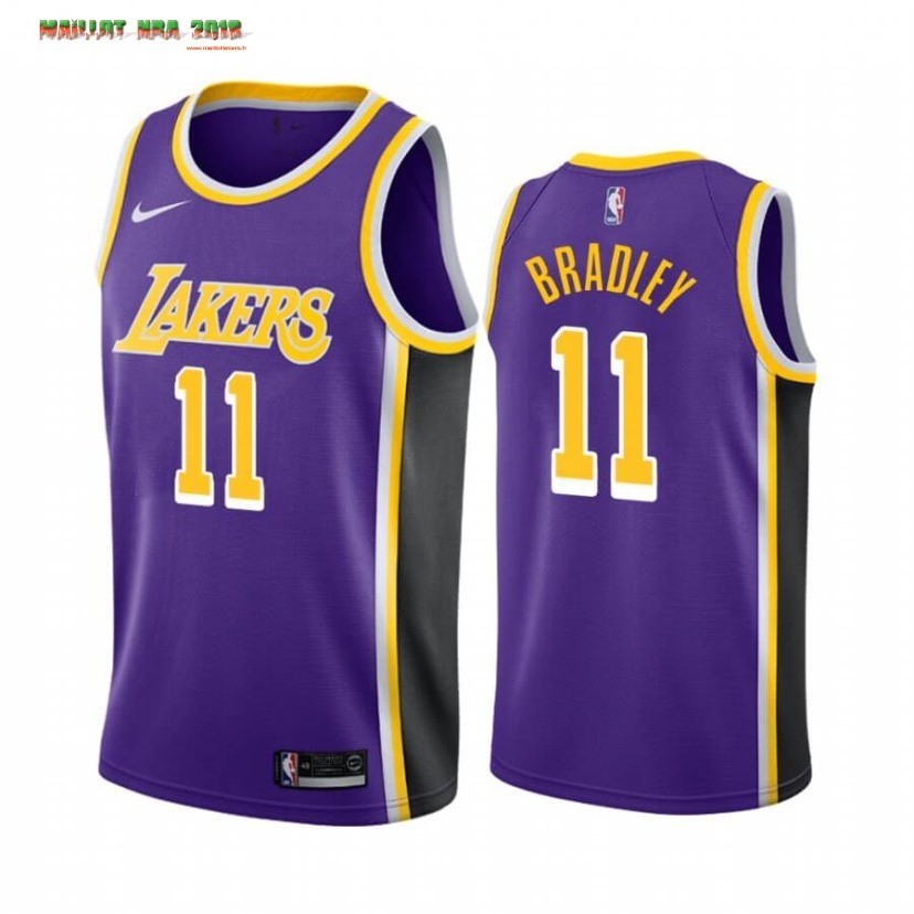 Maillot NBA Nike Los Angeles Lakers NO.11 Avery Bradley Pourpre Statement 2019-20