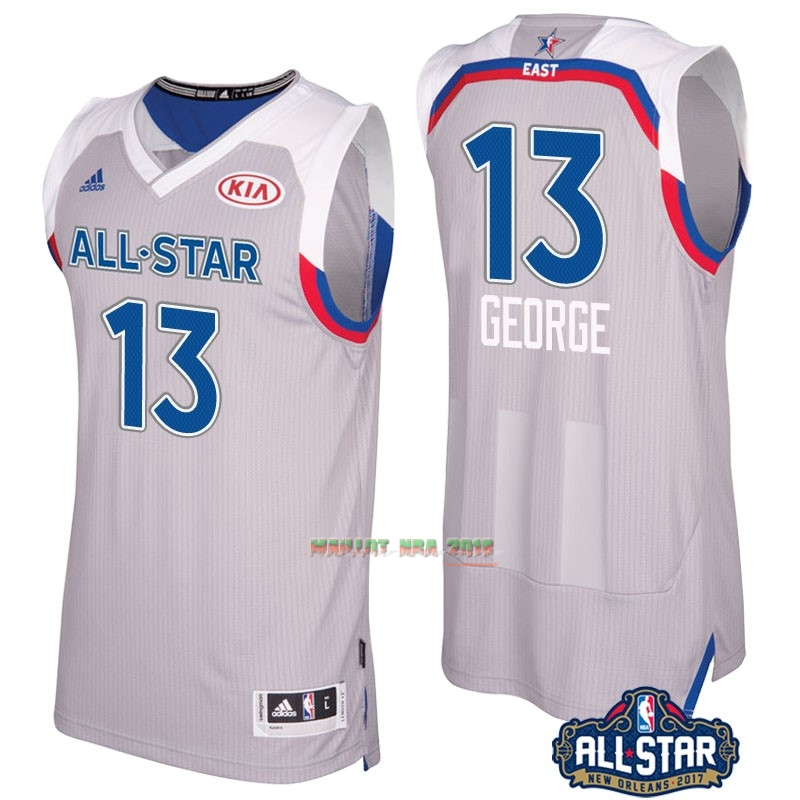 Maillot NBA 2017 All Star NO.13 Paul George Gray