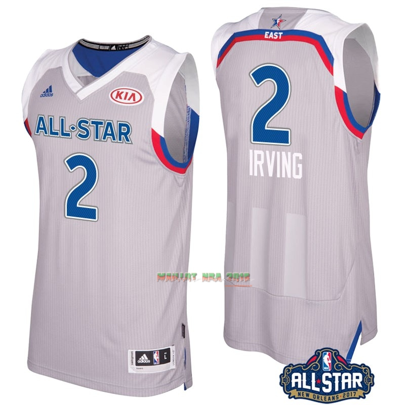 Maillot NBA 2017 All Star NO.2 kyrie Irving Gray