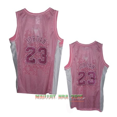 Maillot NBA Femme Chicago Bulls NO.23 Michael Jordan Rose
