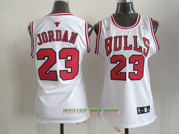 Maillot NBA Femme Chicago Bulls NO.23 Michael Jordan Rouge Blanc