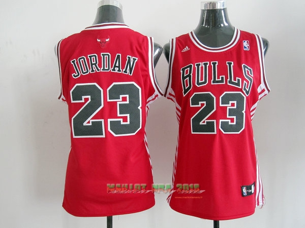 Maillot NBA Femme Chicago Bulls NO.23 Michael Jordan Rouge Noir