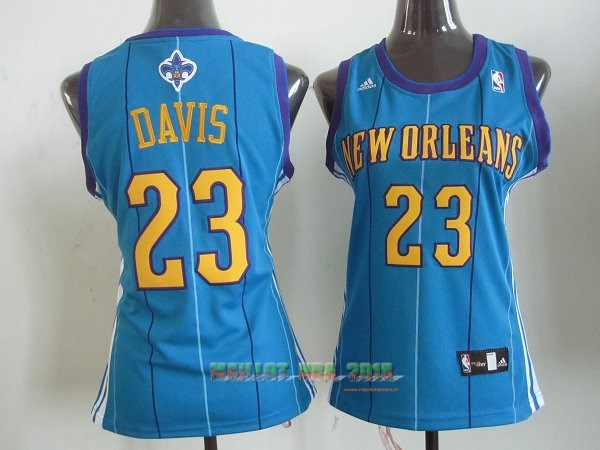 Maillot NBA Femme New Orleans Pelicans NO.23 Anthony Davis Bleu