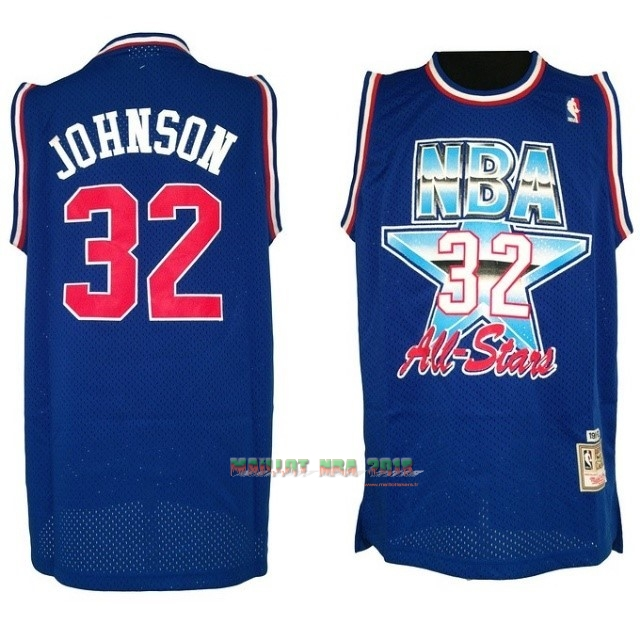 Maillot NBA 1992 All Star NO.32 Joe Johnson Bleu