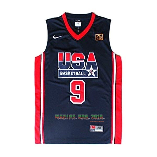Maillot NBA 1992 USA NO.9 Jordan Noir