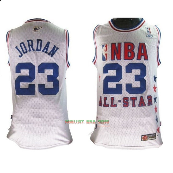 Maillot NBA 2003 All Star NO.23 Michael Jordan Blanc