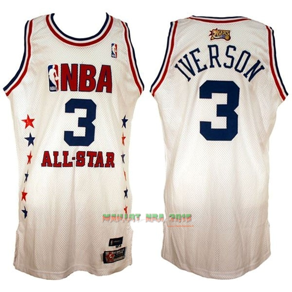 Maillot NBA 2003 All Star NO.3 Allen Iverson Blanc