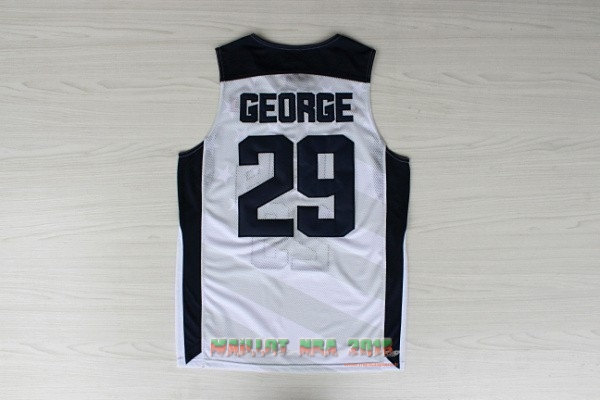 Maillot NBA 2012 USA NO.29 Paul George Blanc