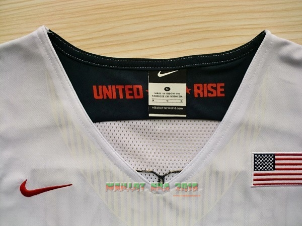 Maillot NBA 2012 USA NO.5 Durant Blanc