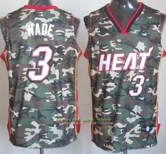 Maillot NBA 2013 Camouflage Fashion NO.3 Wade