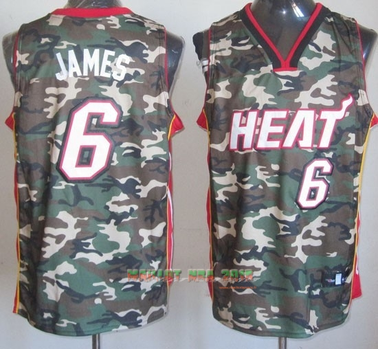 Maillot NBA 2013 Camouflage Fashion NO.6 James