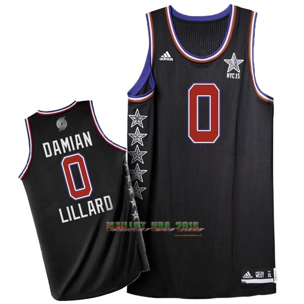 Maillot NBA 2015 All Star NO.0 Damian Lillard Noir