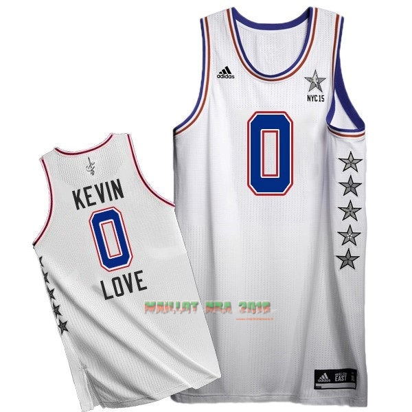 Maillot NBA 2015 All Star NO.0 Kevin Love Blanc