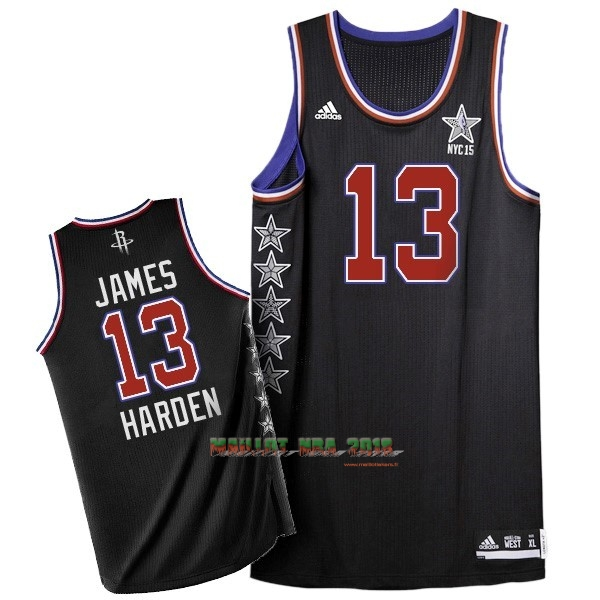 Maillot NBA 2015 All Star NO.13 James Harden Noir
