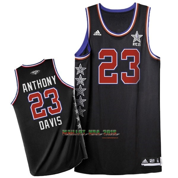 Maillot NBA 2015 All Star NO.23 Baron Davis Noir