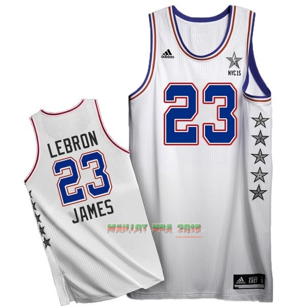 Maillot NBA 2015 All Star NO.23 LeBron James Blanc