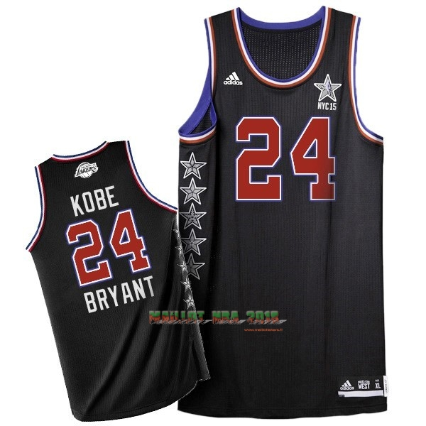 Maillot NBA 2015 All Star NO.24 Kobe Bryant Noir