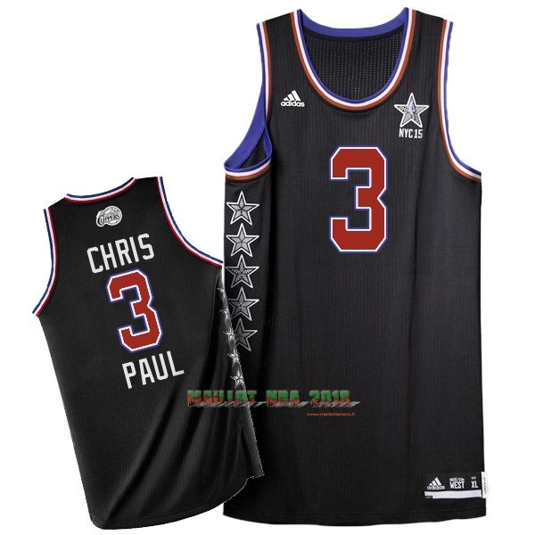 Maillot NBA 2015 All Star NO.3 Chris Paul Noir