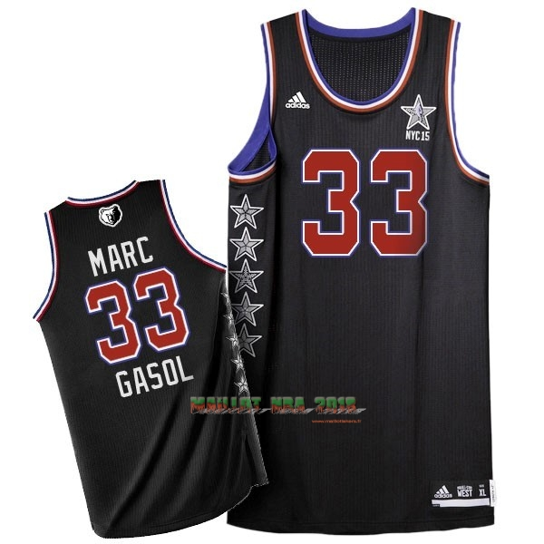Maillot NBA 2015 All Star NO.33 Marc Gasol Noir