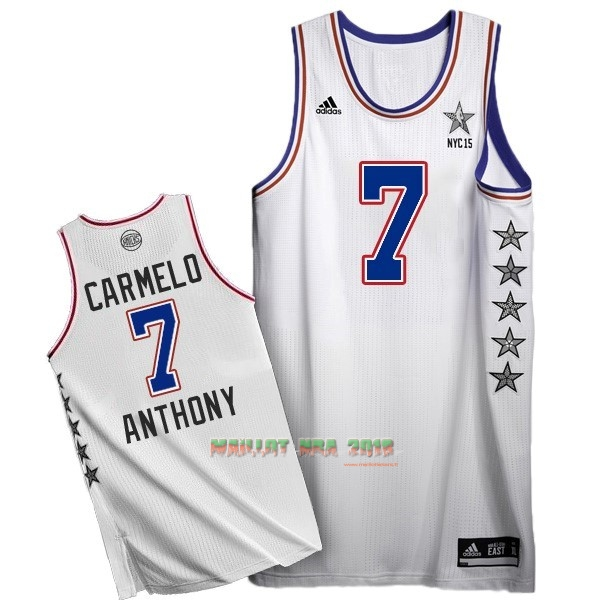 Maillot NBA 2015 All Star NO.7 Carmelo Anthony Blanc