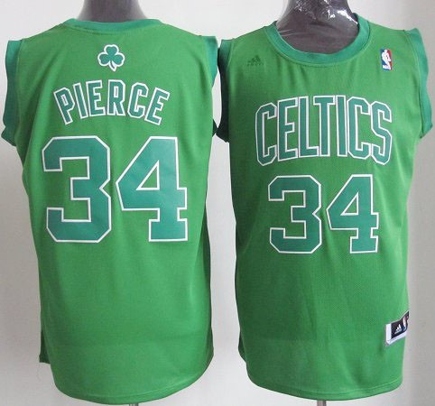 Maillot NBA Boston Celtics 2012 Noël NO.34 Pierce Veder