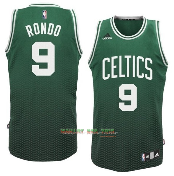 Maillot NBA Boston Celtics Retentisse Fashion NO.9 Rondo Vert