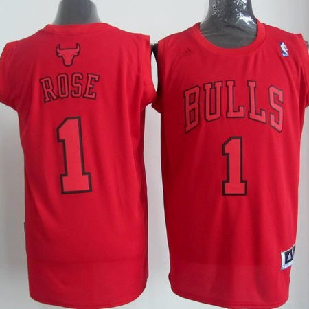 Maillot NBA Chicago Bulls 2012 Noël NO.1 Rose Rouge