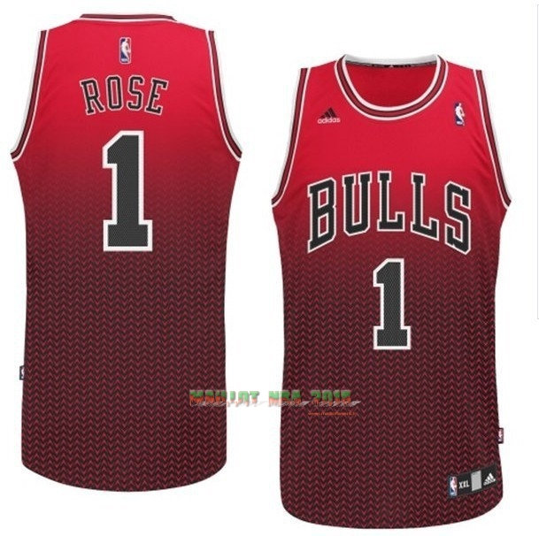 Maillot NBA Chicago Bulls Retentisse Fashion NO.1 Rose Rouge