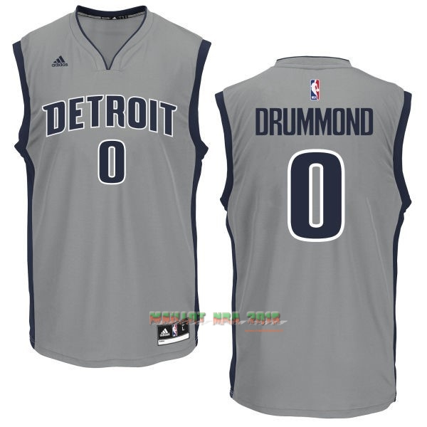 Maillot NBA Detroit Pistons NO.0 Andre Drummond Gris
