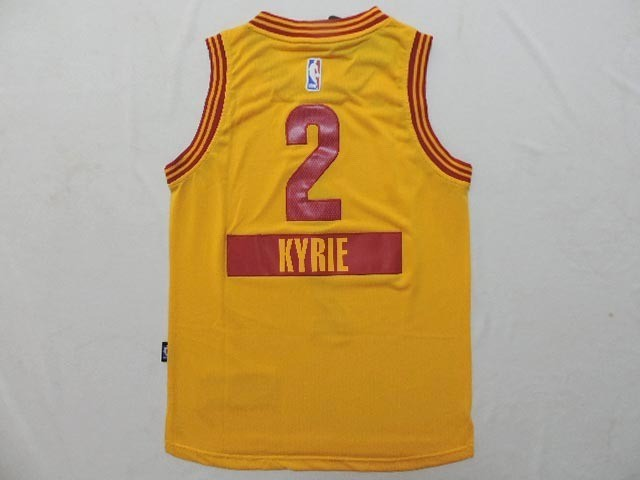 Maillot NBA Enfant 2014 Noël Cleveland Cavaliers NO.2 Kyrie Irving Jaune
