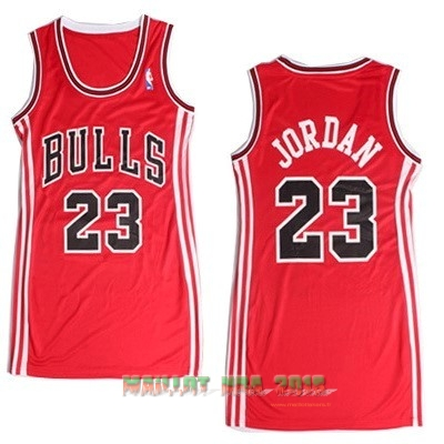 Maillot NBA Femme Chicago Bulls NO.23 Michael Jordan Rouge