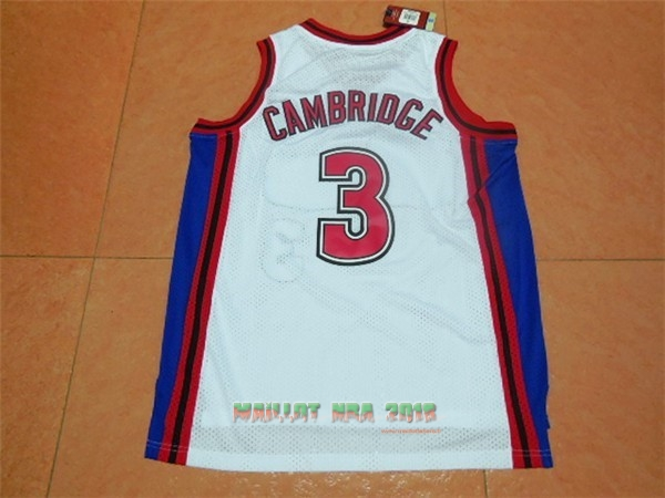 Maillot NBA Film Basket-Ball Bel Air Academy NO.3 Cambridge Blanc