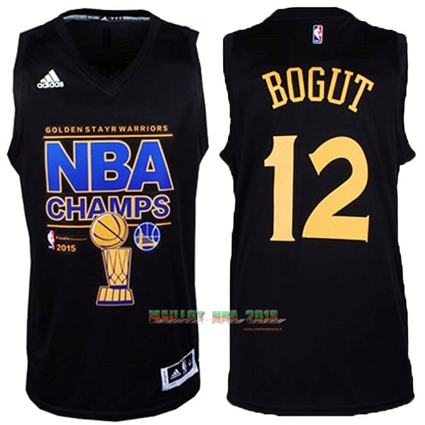 Maillot NBA Golden State Warriors 2015 Final Champions NO.12 Bogut Noir
