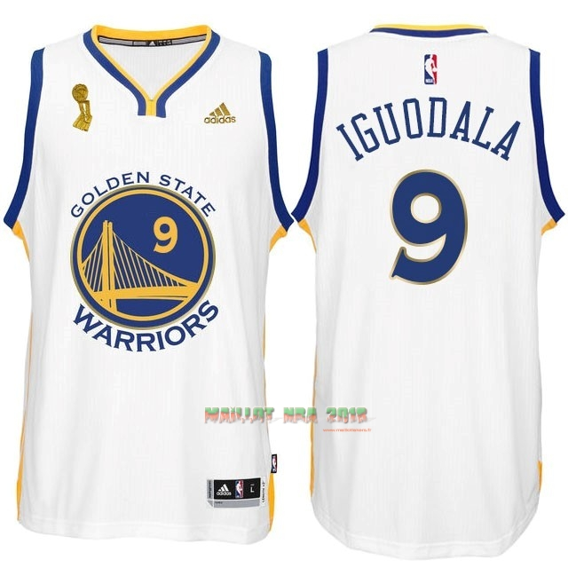 Maillot NBA Golden State Warriors 2015 Final Champions NO.9 Iguodala Blanc