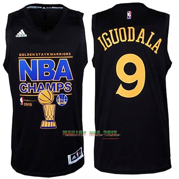Maillot NBA Golden State Warriors 2015 Final Champions NO.9 Iguodala Noir
