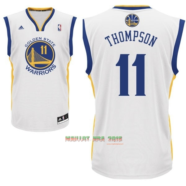 Maillot NBA Golden State Warriors NO.11 Klay Thompson Blanc
