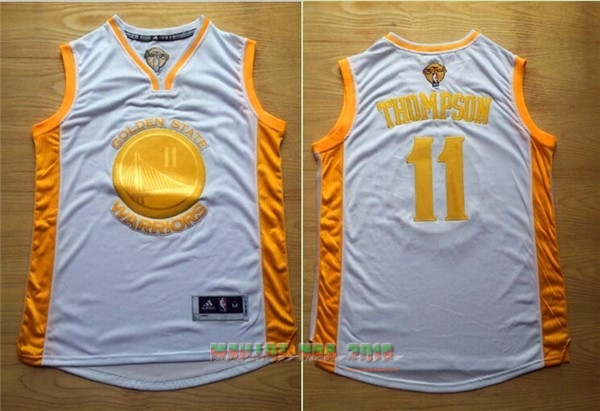 Maillot NBA Golden State Warriors NO.11 Klay Thompson Or