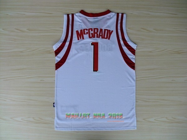 Maillot NBA Houston Rockets NO.1 Tracy McGrady Blanc