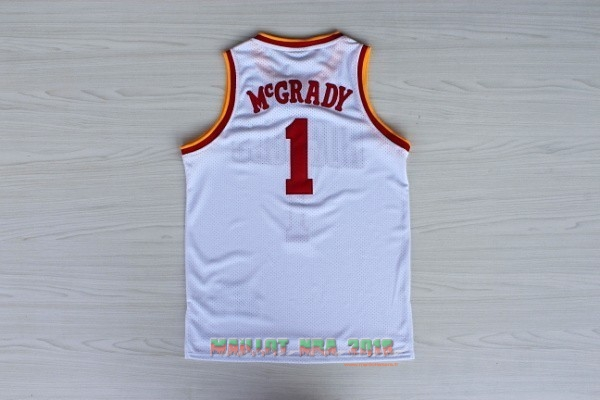 Maillot NBA Houston Rockets NO.1 Tracy McGrady Retro Blanc