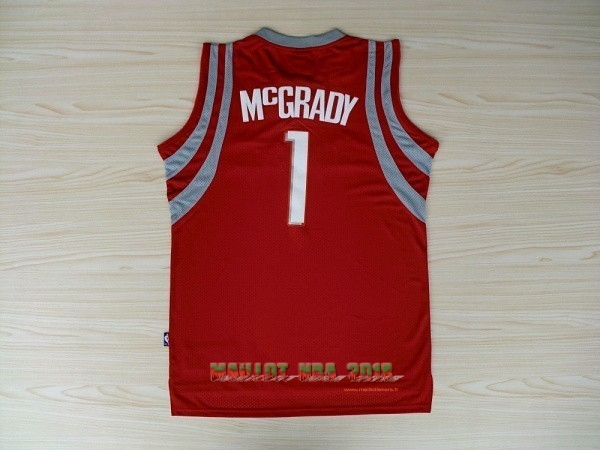 Maillot NBA Houston Rockets NO.1 Tracy McGrady Rouge