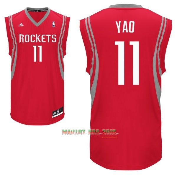 Maillot NBA Houston Rockets NO.11 Yao Ming Rouge