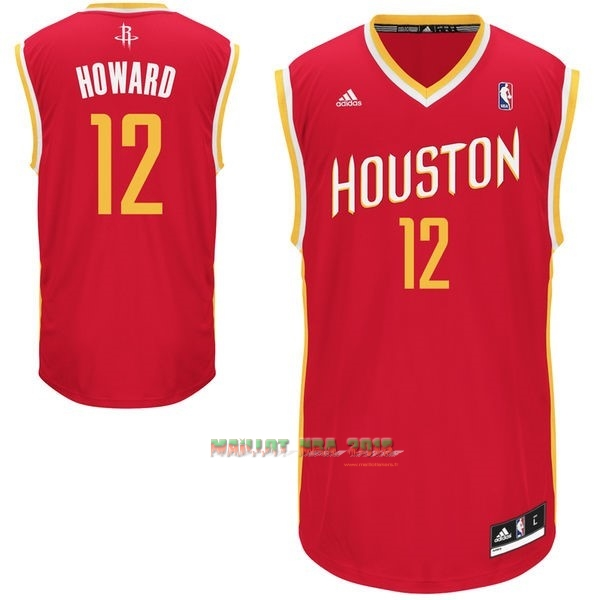 Maillot NBA Houston Rockets NO.12 Dwight Howard Retro Rouge