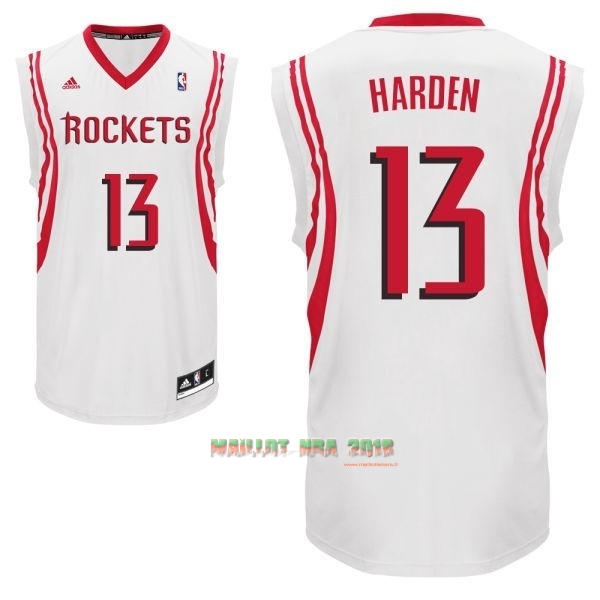 Maillot NBA Houston Rockets NO.13 James Harden Blanc