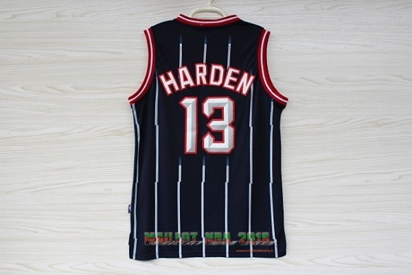 Maillot NBA Houston Rockets NO.13 James Harden Retro Bleu