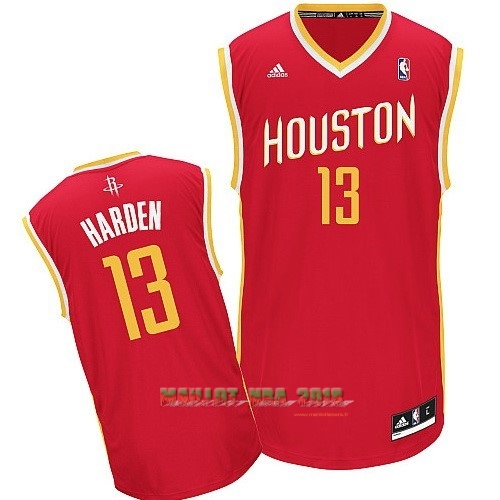 Maillot NBA Houston Rockets NO.13 James Harden Retro Rouge
