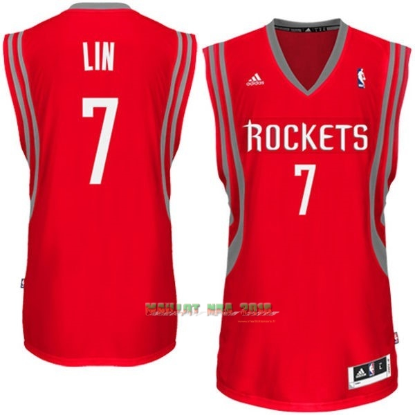 Maillot NBA Houston Rockets NO.7 Jeremy Lin Rouge