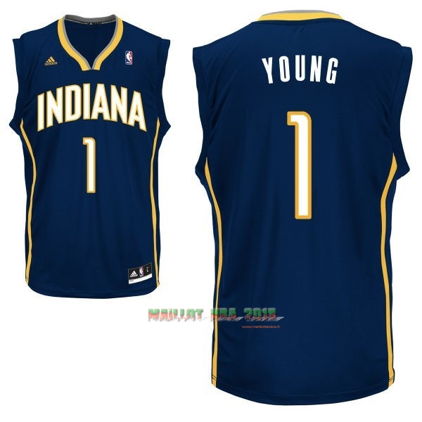 Maillot NBA Indiana Pacers NO.1 Lance Stephenson Noir