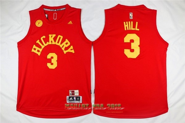 Maillot NBA Indiana Pacers NO.3 George Hill Rouge