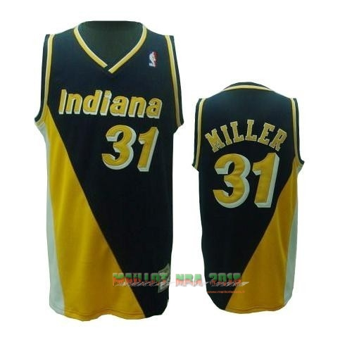 Maillot NBA Indiana Pacers NO.31 Reggie Miller Retro Noir